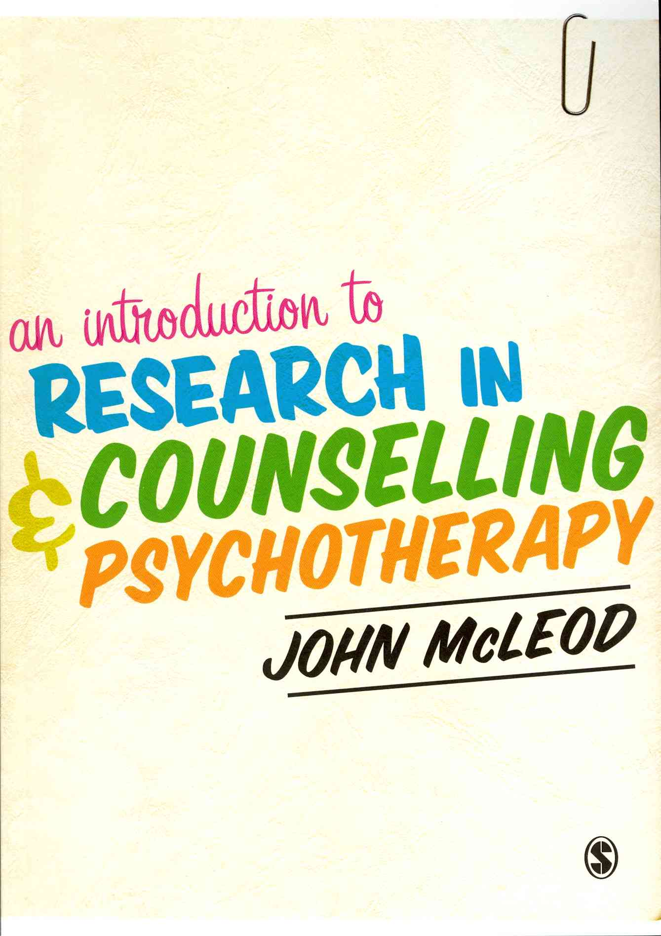 An Introduction to Research in Counselling and Psychotherapy By McLeod, John